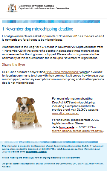 Dog Micro chipping Deadline